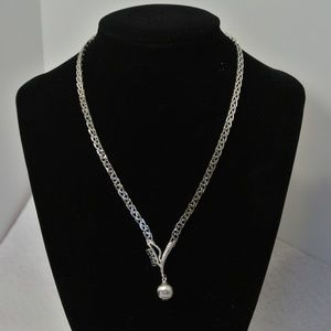 Jewelry - Modernist Sterling Silver Necklace with 4 Topaz